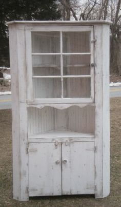 This is a custom made cupboard made with a vintage window,& distressed white fin. - This is a custom made cupboard made with a vintage window,& distressed white fin… – This is a c - Metal Shutters, Plastic Shutters, Diy Shutters, Interior Shutters, Painting Shutters, Bedroom Shutters, Window Shutters, Shabby Chic Bedrooms, Shabby Chic Decor