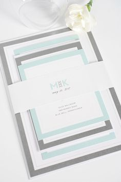 Modern Initials Wedding Invitations