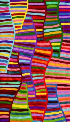 """My Country"" Aboriginal Art Painting by Raelene Stevens x in Art, Aboriginal, Paintings Pattern Art, Abstract Pattern, Abstract Art, Kunst Der Aborigines, Aboriginal Artwork, Dot Painting, Encaustic Painting, Australian Art, Indigenous Art"
