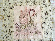 Purple Tulip Pansy Flower Garden Hand Embroidery PDF ePattern Set