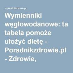 Wymienniki węglowodanowe: tabela pomoże ułożyć dietę - Poradnikzdrowie.pl - Zdrowie, odchudzanie, diety, ciąża, psychologia - m.poradnikzdrowie.pl