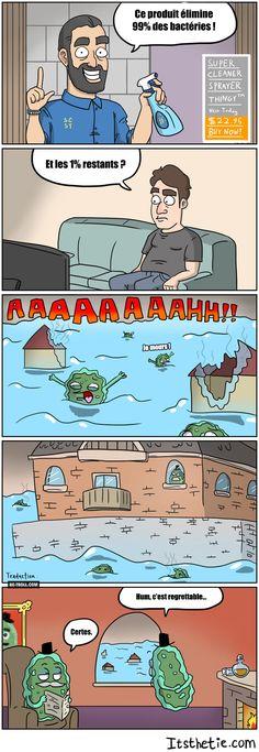 Ce produit élimine 99% des bactéries ! - Be-troll - vidéos humour, actualité…