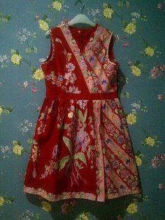 Nfhi Batik Kebaya, Batik Dress, Sewing Ideas, Sewing Projects, Batik Fashion, Dresses Kids Girl, Refashion, Ikat, Frocks