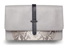 Khirma Eliazov Maxim Python & Lizard Fold-Over Clutch Bag