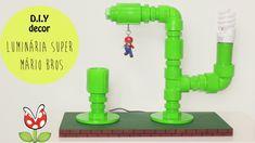 DIY - Faça você mesma Luminária Super Mário Bros. DIY Geek. DIY Decor fácil, rápido e barato para decorar seu quarto. (Por: Carla Sant'Anna, blog Burguesinhas)