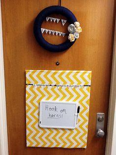 super cute dorm door decorating - only $6!!!