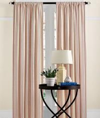 French Ticking Rod Pocket Curtains