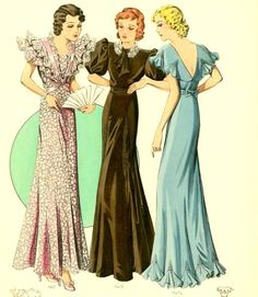 1930s Evening Gowns ✿