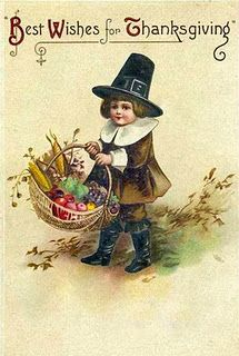 Best Wishes for Thanksgiving - - Vintage Postcard