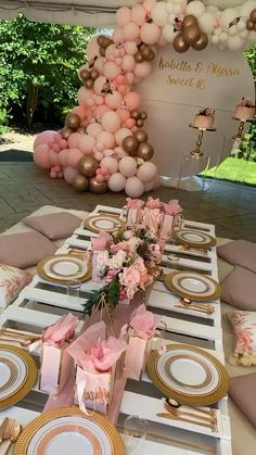 Backyard Birthday Parties, Birthday Party Decorations Diy, Girl Baby Shower Decorations, Balloon Decorations Party, Diy Wedding Decorations, Sweet 16 Party Decorations, Elegant Birthday Party, 18th Birthday Party Ideas For Girls, Boho Chic