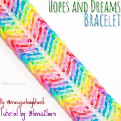 This is the Hopes and Dreams Bracelet that was designed by @crazyjustmightwork. @loves2loom has a tutorial for it on her channel. #rainbowloom #rainbowlooms #rainbowloomineer #officialrainbowloom #official_rainbowloom #hopesanddreamsbracelet #crazyjustmightwork #loves2loom