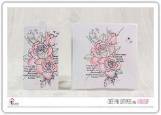 """Cathygel : #Tampons et #matrices de coupe #dies #4enSCRAP """"#Roses"""" #fleurs #scrapbooking #DIY #loisirscréatifs #carte #carterie Mini Albums, Nature Rose, Scrapbooking Diy, Tampons Transparents, Roses, Bonheur, Happy Moments, Emboss, Splash Of Color"""
