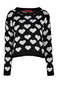 Ava Heart Soft Knit Crop Jumper