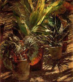 Ignacy Aleksander Gierymski, 1850-1901, Polish painter, Begonie, 1876-80