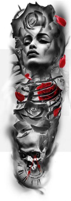 52 Ideas Tattoo Rose Girl Skulls - 52 Ideas Tattoo Rose Girl Skulls Best Picture For country girl tattoo For Your Taste You - Skull Rose Tattoos, Skull Girl Tattoo, Girl Skull, Dog Tattoos, Skull Art, Body Art Tattoos, Girl Tattoos, Sleeve Tattoos, Tattoo Art