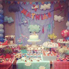 Festa aviões - decoração mini mimo festas