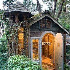 Fantastic, over the top, chicken coop idea! At least it looks cute in the yard. :)