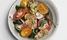 Tomato and toasted bread salad.