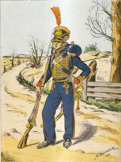 French; Imperial Guard,Battalion of Marines, Quatier-Mestre, Grande Tenue, 1810.