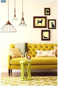 59 Best Yellow Sofa Ideas Images
