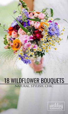 18 Wildflower Wedding Bouquets Not Just For The Country Wedding ❤ The natural beauty of wildflowers means you can use them for most wedding themes. See more: http://www.weddingforward.com/wildflower-wedding-bouquets/ #wedding #bouquet Photo: Karti fotografie http://www.karti-fotografie.de/