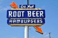 Cre Mel Root Beer Vintage Sign by Mod Betty / RetroRoadmap.com, via Flickr