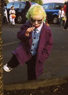 The Joker | 13 Insanely Clever Homemade Kid's Halloween Costumes