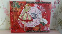 Prima doll -Christmas  beauty canvas.