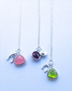 Lucky Charm Necklaces  Fortune Cookie  Wishbone  by Annyse on Etsy
