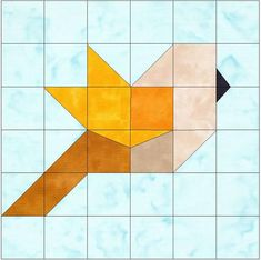 Bird Paper Piecing Foundation Quilting Block Pattern - Patchwork & Quilting at Makerist Paper Pieced Quilt Patterns, Barn Quilt Patterns, Bird Patterns, Patchwork Quilting, Pattern Blocks, Quilting Patterns, Paper Patterns, Free Quilt Block Patterns, Patchwork Patterns
