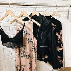 Our latest arrivals have just dropped online! | Shop the hottest spring trends now! | #leatherjacket #floraldress #springfashion