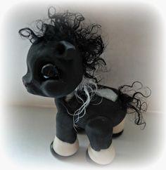 polymer clay pony horse