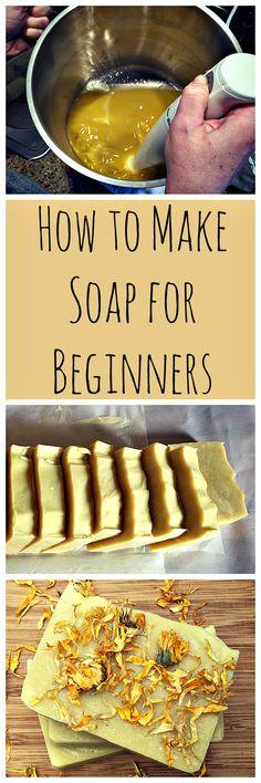 Homemade Calendula Soap:  A recipe and guide for beginners. #homemadesoap