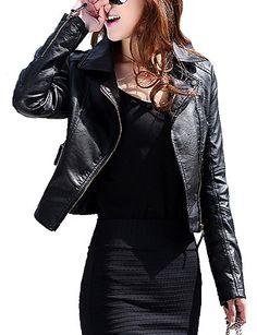 Basic Jackets Press Cotton Leather Jackets Women Long Sleeve Autumn Winter Coat 2018 Black White Patchwork Slim Short Jackets With Zippers X1