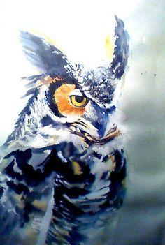 original water colour of a long eared owl £40.00