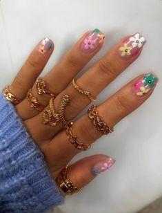 Nail Design Stiletto, Nail Design Glitter, Frensh Nails, Swag Nails, Jolie Nail Art, Do It Yourself Nails, Acylic Nails, Funky Nails, Funky Nail Art