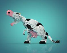 Tyrannocow (T-cow) : meeeeuh - Legos - Lego Lego Mecha, Jurassic Park, Lego Jurassic, Train Lego, Lego Trains, Lego Design, Dodge Challenger Srt, Lego Dinosaurus, Animation