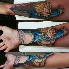 The biggest gallery of Dragon Ball Z tattoos and sleeves, with a great character selection from Goku to Shenron and even the Dragon Balls themselves. Forearm Tattoos, Body Art Tattoos, Hand Tattoos, Sleeve Tattoos, Maori Tattoos, Tatoos, Badass Tattoos, Cool Tattoos, Sick Tattoo