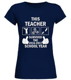 T shirt  THIS TEACHER SURVIVED SCHOOL YEAR SHIRT  fashion trend 2018 #tshirt, #tshirtfashion, #fashion