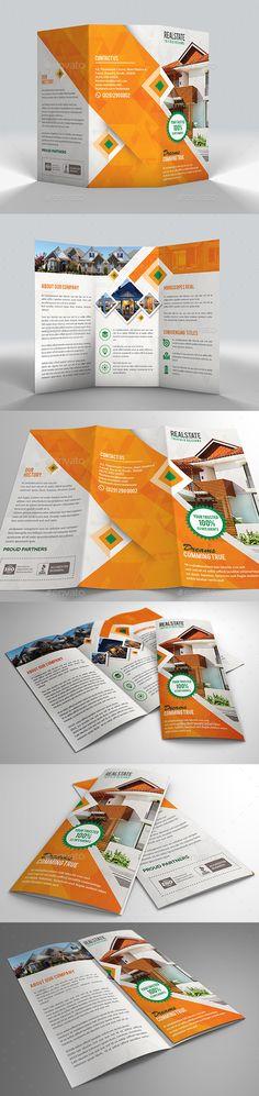 Modern Tri Fold Real Estate Brochure - Corporate Brochures
