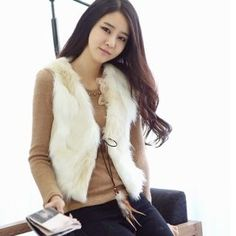 Styleberry  Furry Vest with Cord