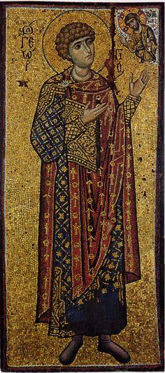 St George, facing Christ (12th Century)
