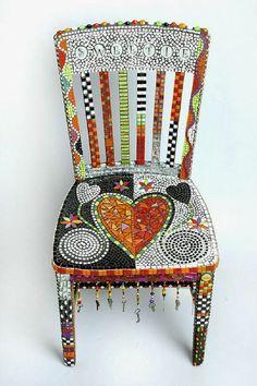 Fun chair - not too cushie, but so pretty.