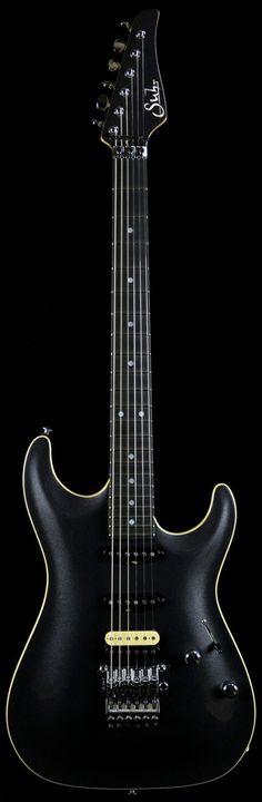 Suhr Carve Top Standard in Black Pearl Metallic with Ivoroid Binding
