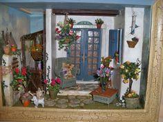 VINTAGE Artist Made GERANIUM WINDOW BOX Dollhouse Miniature From Museum