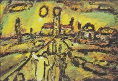 GEORGES ROUAULT / Biblical Landscape - Sunset