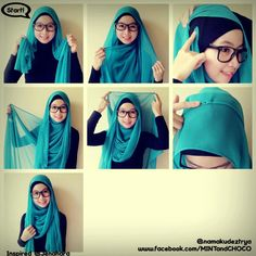 very simple hijab tutorial