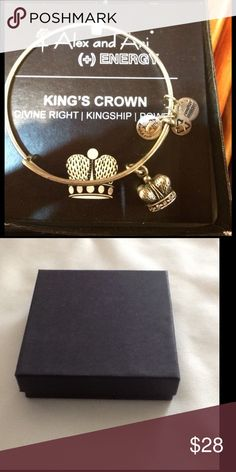 Authentic Alex & Ani Gold Kings Crown Authentic Alex & Ani Gold Kings Crown new with tag and card. A black box is provided. Alex & Ani Jewelry Bracelets