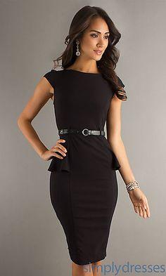 Black peplum dress! The little black dress so cute I had to get one