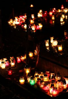 All Saints' Day in Warsaw, Poland